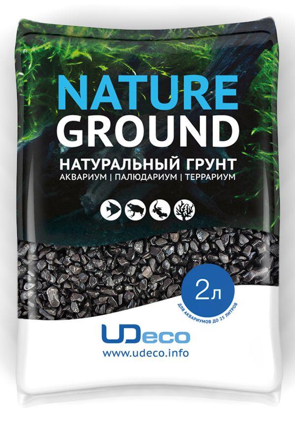 Грунт для аквариума UDeco Черный гравий, натуральный, 4-6 мм, 2 лUDC420352Натуральный грунт UDeco Черный гравий предназначен специально для оформления аквариумов, палюдариумов и террариумов. Изделие готово к применению. Грунт UDeco порадует начинающих любителей природы и самых придирчивых дизайнеров, стремящихся к созданию нового, оригинального. Такая декорация придутся по вкусу и обитателям аквариумов и террариумов, которые ещё больше приблизятся к природной среде обитания. Необходимое количество грунта рассчитывается по формуле: длина аквариума х ширина аквариума х толщина слоя грунта. Предназначен для аквариумов до 25 литров. Фракция: 4-6 мм. Объем: 2 л.