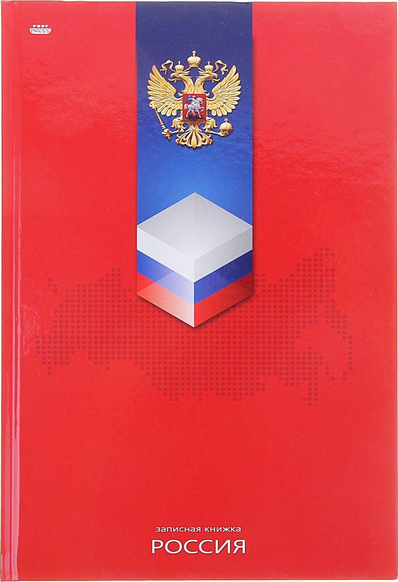 Проф-Пресс Записная книжка Триколор на красном 120 листов1089634