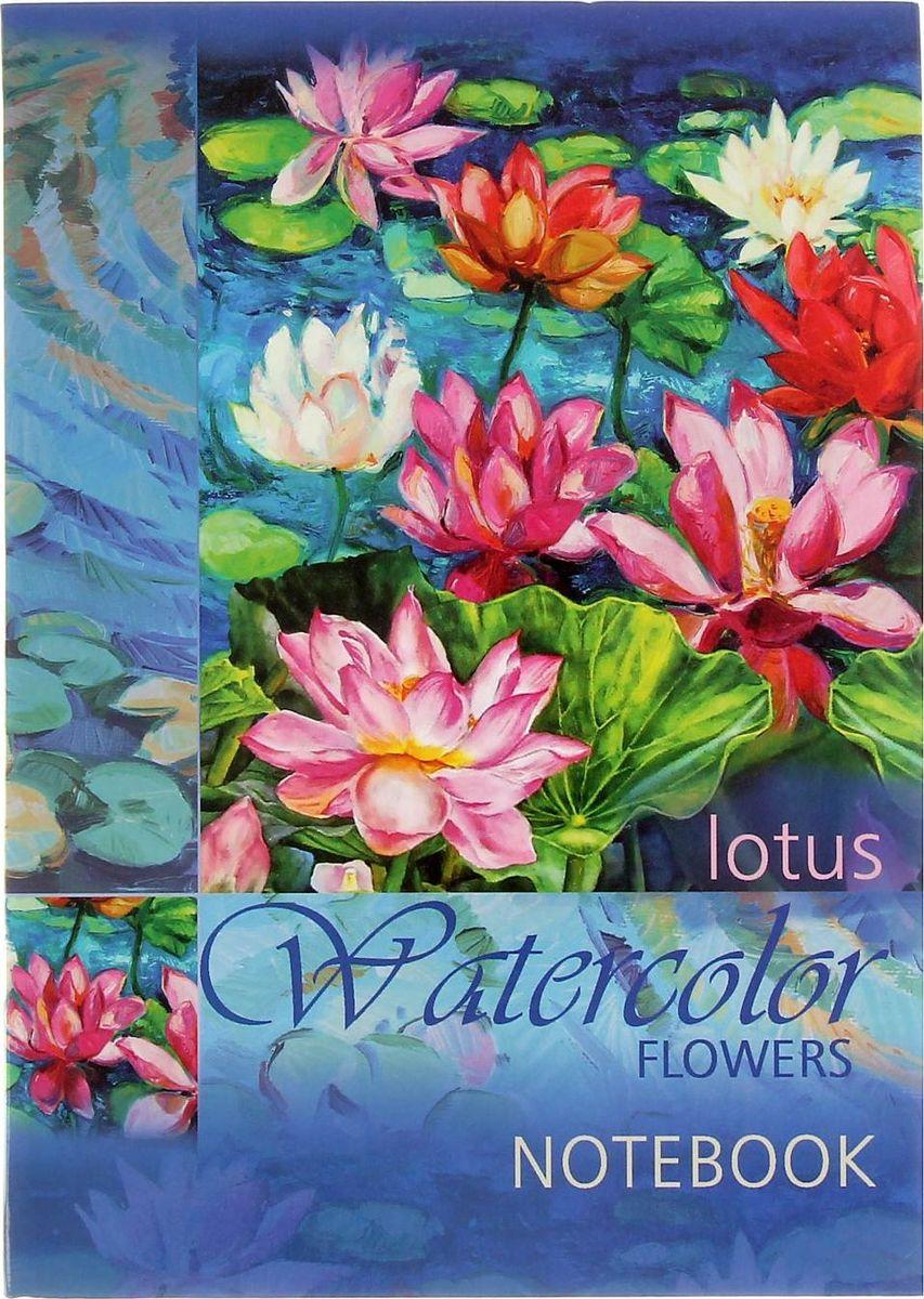 Проф-Пресс Записная книжка Цветы на воде 120 листов1776322