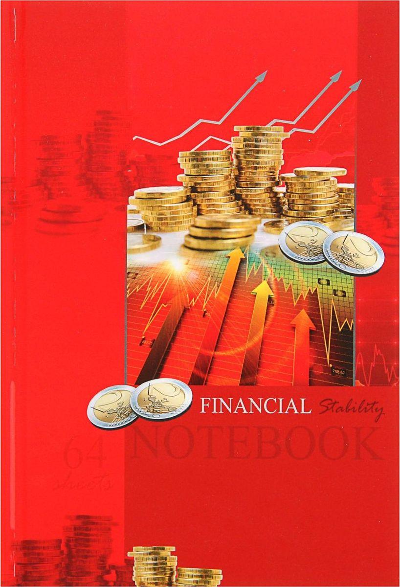 Profit Записная книжка Монеты на красном 64 листа1844721