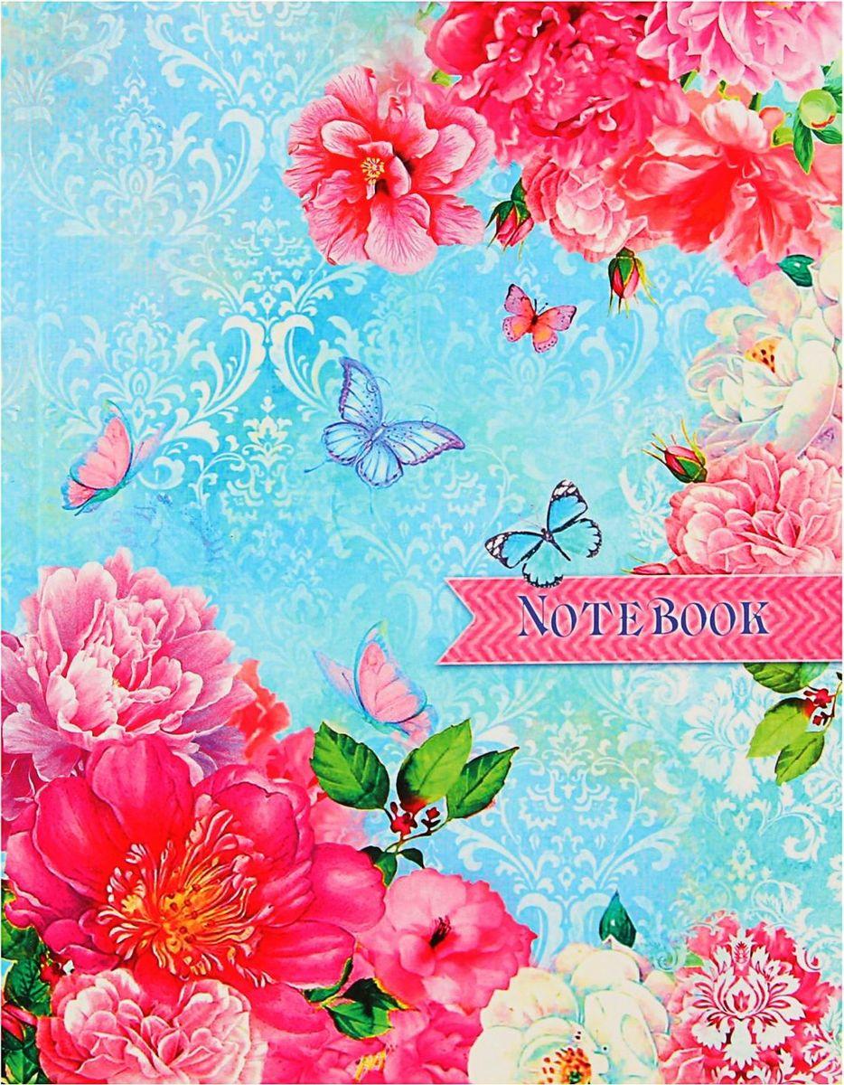 Проф-Пресс Записная книжка Бабочки и нежные цветы 80 листов1844727