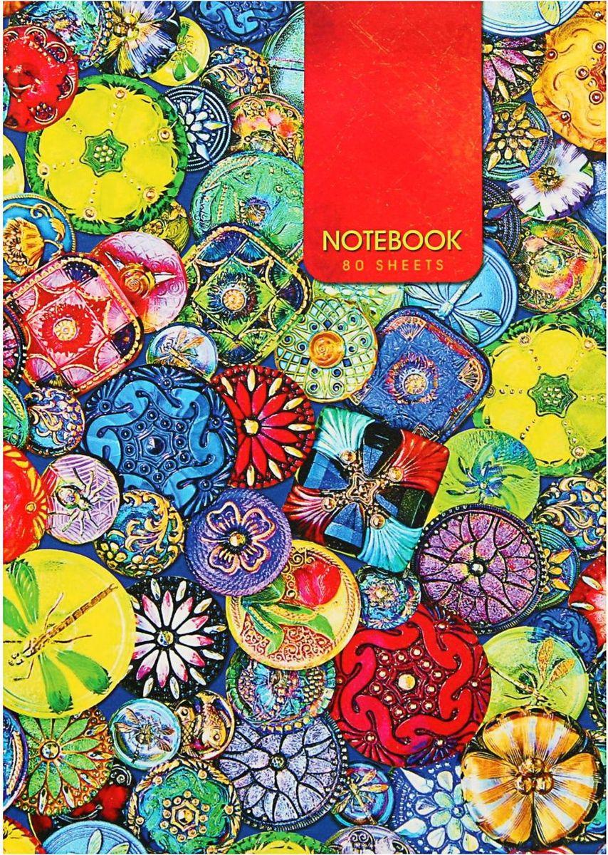 Проф-Пресс Записная книжка Яркие украшения 80 листов1844751