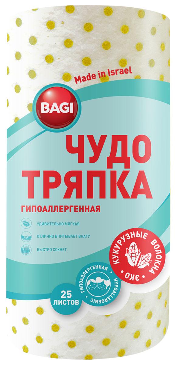 Чудо-тряпка Bagi, гипоаллергенная, 20 х 20 смBG-C-208917-0Bagi чудо-тряпка гипоаллергенная, 20х20 см, 33 листа в рулоне