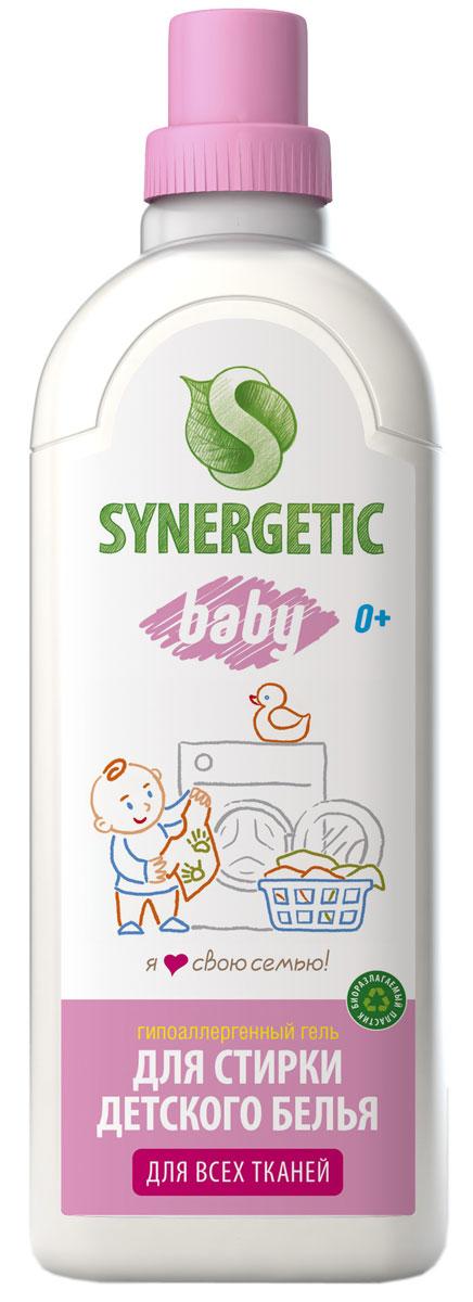 Жидкое средство для стирки Bagi, биоразлагаемое, для детского белья, 1 лSNG-109101SYNERGETIC средство моющее биоразлагаемое для стирки детского белья, 1 л