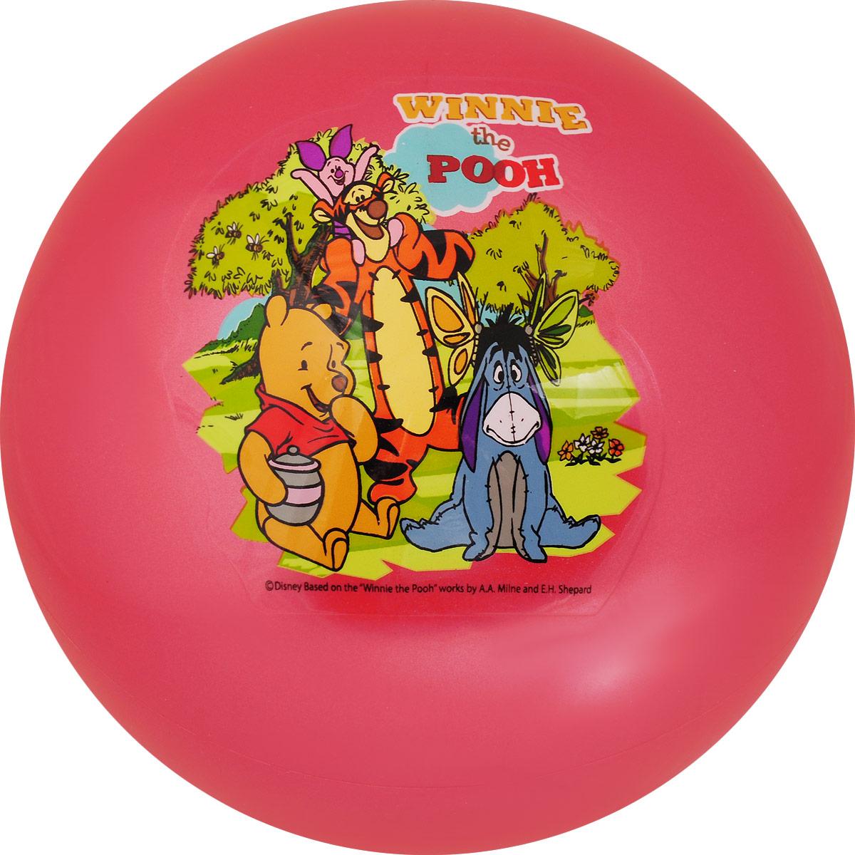 Играем вместе Мяч Winnie the Pooh цвет темно-розовый 23 см