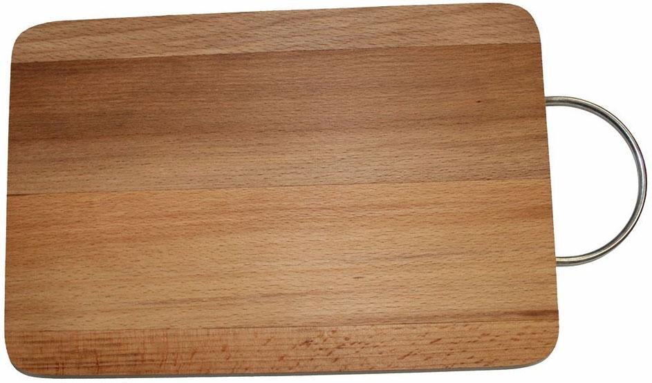 Доска разделочная Dommix, прямоугольная, с ручкой, 20 х 30 х 1,8 смMO11Прямоугольная разделочная доска с металлической ручкой изготовлена из бука в России. Прекрасно подходит для приготовления и сервировки пищи. Упаковано в полиэтиленовую пленку.