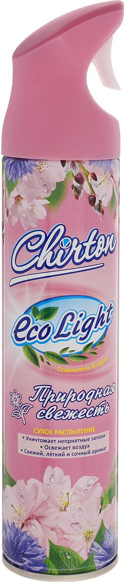 Освежитель воздуха Chirton ЭКО Лайт. Природная свежесть, 280 мл49567Освежитель воздуха Chirton ECO Light. Природная свежесть, содержащий высококачественные натуральные ароматизаторы, не просто маскирует неприятные запахи, а быстро, легко и эффективно их уничтожает. Он имеет свежий, легкий и сочный аромат, который надолго наполнит ваш дом отличным настроение. Уникальный триггер обеспечивает очень удобное использование освежителя и его мягкое сухое микрораспыление без капель и брызг. Товар сертифицирован. Уважаемые клиенты! Обращаем ваше внимание на возможные изменения в дизайне упаковки. Качественные характеристики товара остаются неизменными. Поставка осуществляется в зависимости от наличия на складе.