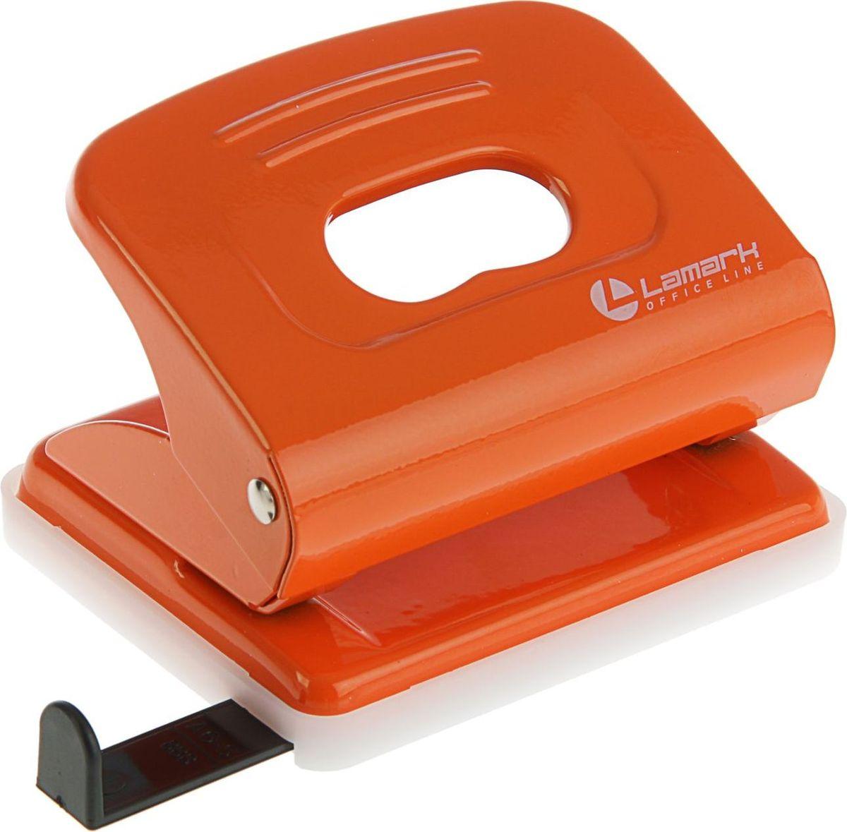 Lamark Дырокол Mettallic с линейкой на 20 листов цвет оранжевый2325209