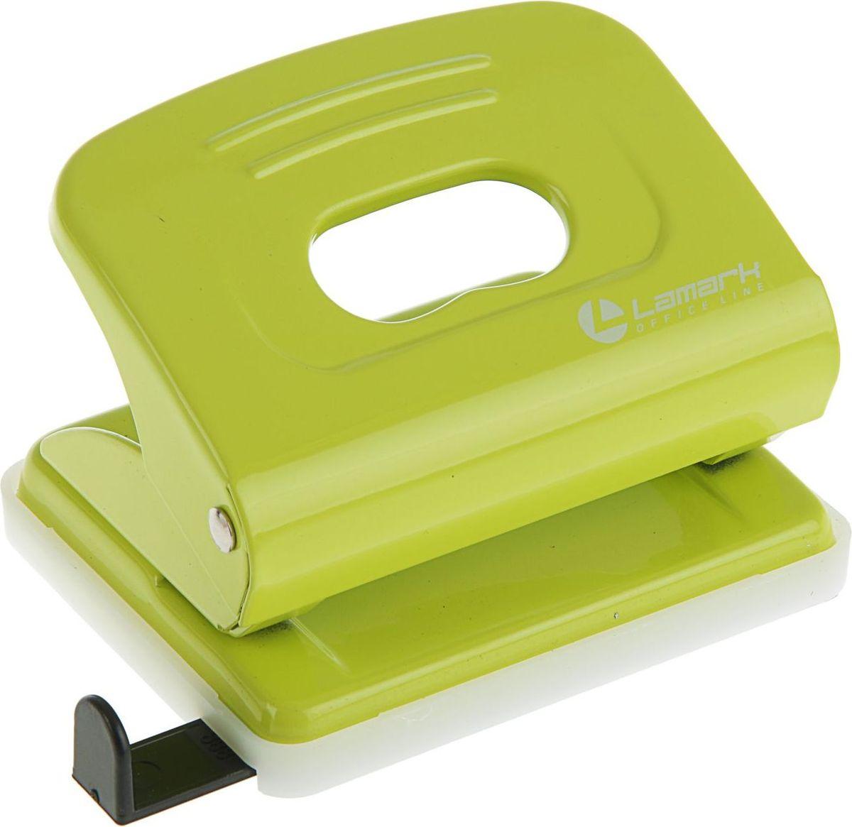 Lamark Дырокол Mettallic с линейкой на 20 листов цвет светло-зеленый2325210