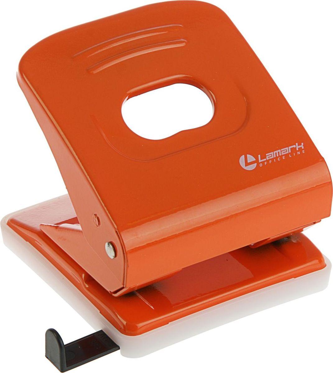 Lamark Дырокол Mettallic с линейкой на 30 листов цвет оранжевый2325213