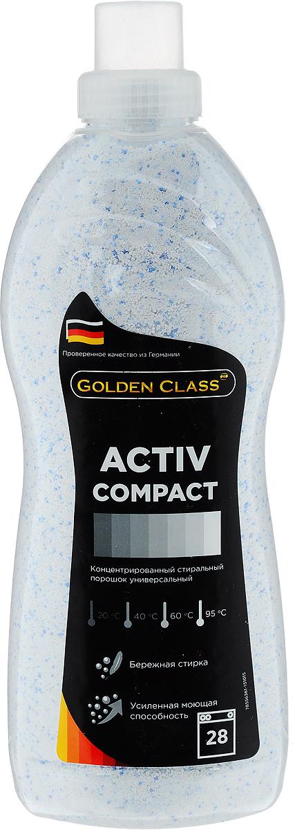 Стиральный порошок Golden Class Activ Compact, концентрированный, универсальный, 1,75 кг06102Стиральный порошок Golden Class Activ Compact предназначен для стирки изделий из хлопчатобумажных, льняных, синтетических, смесовых, белых и цветных тканей при температуре от 20 до 95°С. Для изделий из шерсти и натурального шелка используйте специальные моющие средства. Activ Compact - это порошок с пониженным пенообразованием, который специально разработан для стирки белья в автоматических стиральных машинах всех типов. Благодаря инновационной технологии порошок отлично удаляет даже самые сложные пятна. Гранулы пятновыводителя быстро растворяются в воде и начинают действовать на пятно уже в самом начале стирки. Специальные отбеливающие компоненты сделают ваше белье белоснежным. Особенности: - Защита структуры волокон ткани и препятствие появлению катышек. - Не содержит фосфатов. - Содержит вещества, препятствующие образованию накипи. - Придает белью приятный свежий аромат. - Предварительная стирка не требуется. Экономичность: 1...