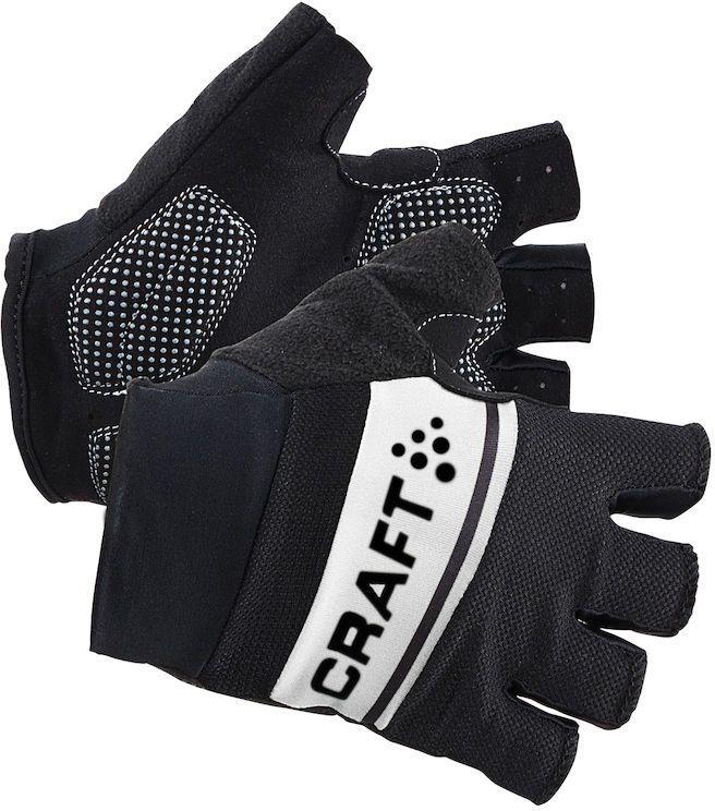 Велоперчатки Craft Classic, цвет: черный, белый. 1903304. Размер L (10)