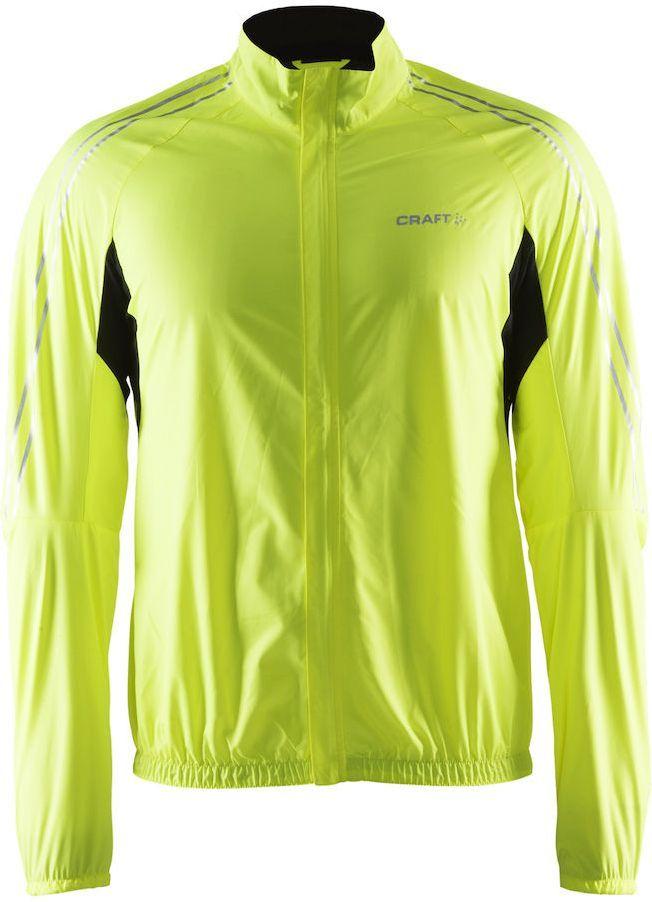 Куртка мужская для велоспорта Craft Velo Bike Wind, цвет: салатовый, черный. 1903996. Размер XL1903996Ветрозащитная и влагостойкая ткань