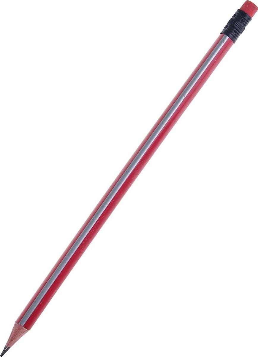 Карандаш чернографитный с ластиком цвет корпуса красный серый1299431Простые чернографитные карандаши — основа любого начинания. Что бы вы ни делали — рисунки, наброски, пометки — карандаш здесь становится незаменимым инструментом. Очень важно чтобы грифель был качественный, не оставлял неряшливых и неопрятных следов, не пачкал руки и не ломался. Карандаш чернографитный с ластиком НВ корпус треугольный заточенный красный с серыми полосками — прекрасное сочетание выгодной цены и высочайшего качества. Прочный графитовый стержень не ломается и не крошится, а деревянный корпус легко затачивается.