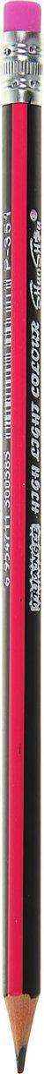ShanShou Карандаш чернографитный с ластиком цвет корпуса черный розовый1723248