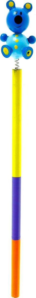 Карандаш Медвежонок860415Веселые яркие карандаши с игрушками станут для ребенка верными помощниками в процессе обучения рисованию. Забавная зверушка, которая уселась на верхушке пишущего прибора, сделает учебу интереснее и веселее. А значит, малыш быстрее освоит новый навык. изготовлен из безопасного материала — натуральной древесины, покрытой нетоксичными красками, поэтому безопасен для здоровья ребенка.