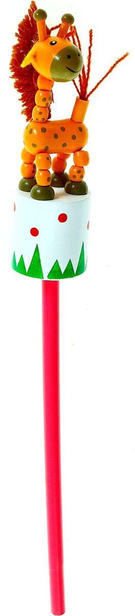 Карандаш Жирафик860422Веселые яркие карандаши с игрушками станут для ребенка верными помощниками в процессе обучения рисованию. Наконечник выполнен в виде забавной зверушки-дергунчика. У игрушки двигаются части тела, что развивает у малыша мелкую моторику, тактильное восприятие и просто забавляет его. изготовлен из безопасного материала — натуральной древесины, покрытой нетоксичными красками, поэтому безопасен для здоровья ребенка.