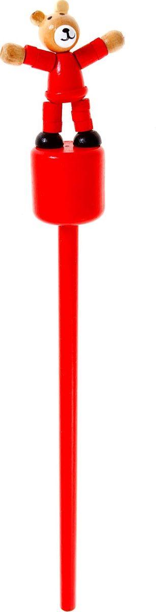 Карандаш Мишка860423Веселые яркие карандаши с игрушками станут для ребенка верными помощниками в процессе обучения рисованию. Наконечник выполнен в виде забавной зверушки-дергунчика. У игрушки двигаются части тела, что развивает у малыша мелкую моторику, тактильное восприятие и просто забавляет его. изготовлен из безопасного материала — натуральной древесины, покрытой нетоксичными красками, поэтому безопасен для здоровья ребенка.