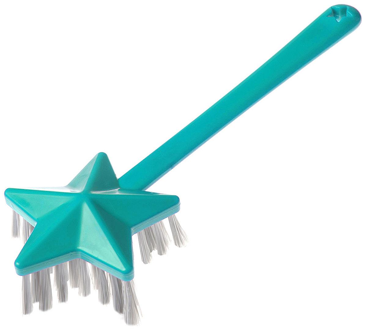 Щетка Youll love Звезда, универсальная, цвет: бирюзовый71296Подходит как для мытья посуды, так и для уборки помещений, чистки мебели.