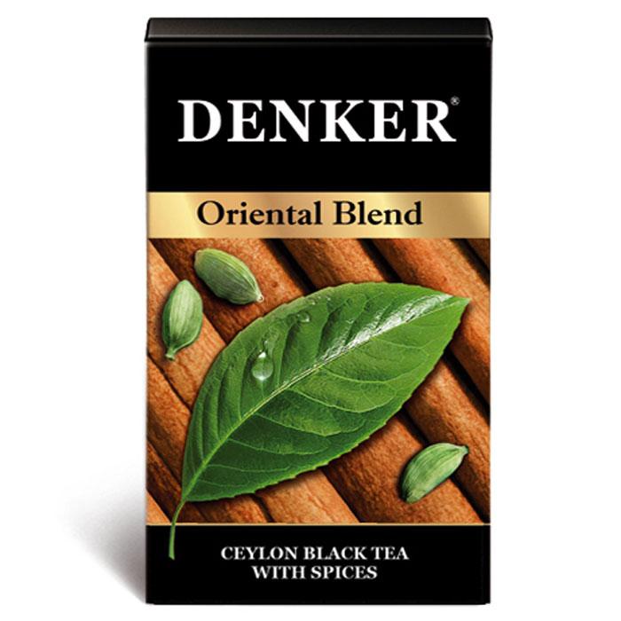 Denker Oriental Blend черный ароматизированный чай в пакетиках, 200 шт.1080068Восточные специи уже давно стали неотъемлемой частью кулинарного искусства и используются при создании шедевров самой высокой кухни разных народов мира. Denker Oriental Blend - это экзотический купаж черного цейлонского чая с корицей, имбирем, гвоздикой, черным перцем и кардамоном. Вся прелесть этого напитка раскрывается в полной мере при добавлении молока или сливок.