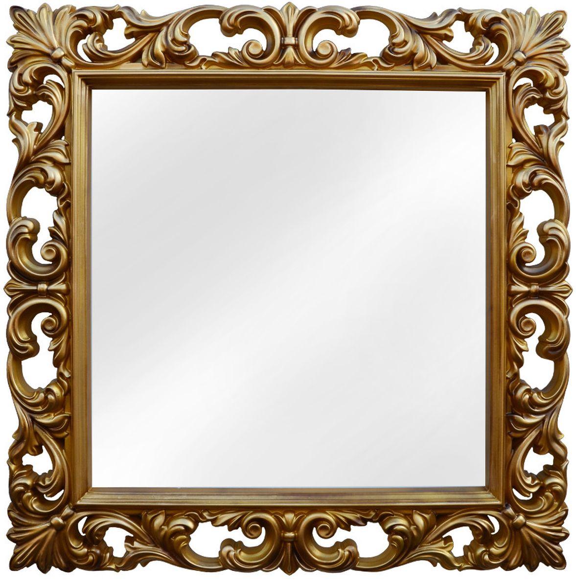 Зеркало VezzoLLi Нованто, цвет: золотой, 90 х 90 см25-11Подвесы в комплекте. Видимый размер зеркала 63х63 см. Ширина обрамления 13,5 см.