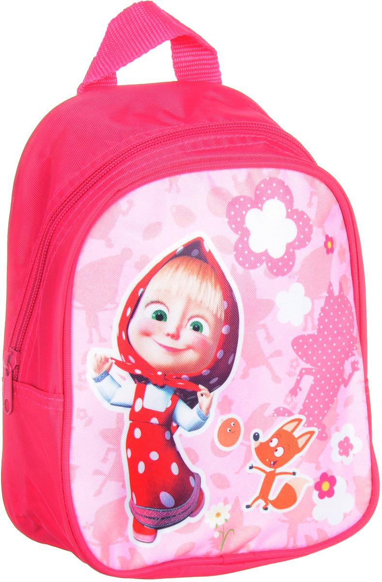 Маша и Медведь Рюкзак дошкольный Маша и лисичкаOM-671-2/1Дошкольный рюкзак Маша и Медведь Маша и лисичка имеет легкий вес, поэтому ребенку будет с ним очень удобно. Рюкзак содержит одно вместительное отделение на молнии, регулируемые лямки и специальную ручку для размещения на вешалке. Лицевая сторона рюкзака декорирована изображением озорной героини и лисички из мультфильма Маша и Медведь. Изделие изготовлено из износостойкой, водонепроницаемой ткани.
