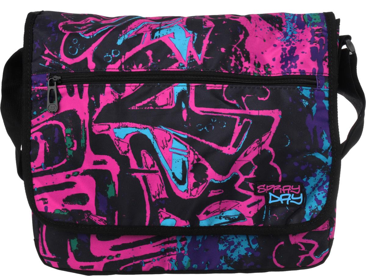 Walker Сумка школьная Fun Spray Day цвет фуксия42086/54Прочная и вместительная школьная сумка Fun Spray Day смотрится элегантно в любой ситуации. Сумка имеет одно отделение, которое закрывается на клапан с липучками. Внутри отделения находится открытый мягкий карман на хлястике с липучкой. Под клапаном с лицевой стороны расположен накладной карман на застежке-молнии, внутри которого находятся два открытых кармашка, карман-сетка на застежке-молнии и три кармашка для канцелярских принадлежностей. Лицевая сторона клапана дополнена большим врезным карманом на молнии. Широкая лямка с подвижным уплотнителем регулируется по длине. Такую сумку можно использовать для повседневных прогулок, учебы, отдыха и спорта, а также как элемент вашего имиджа. Лаконичный и сдержанный дизайн подчеркнет индивидуальность и порадует своей функциональностью.