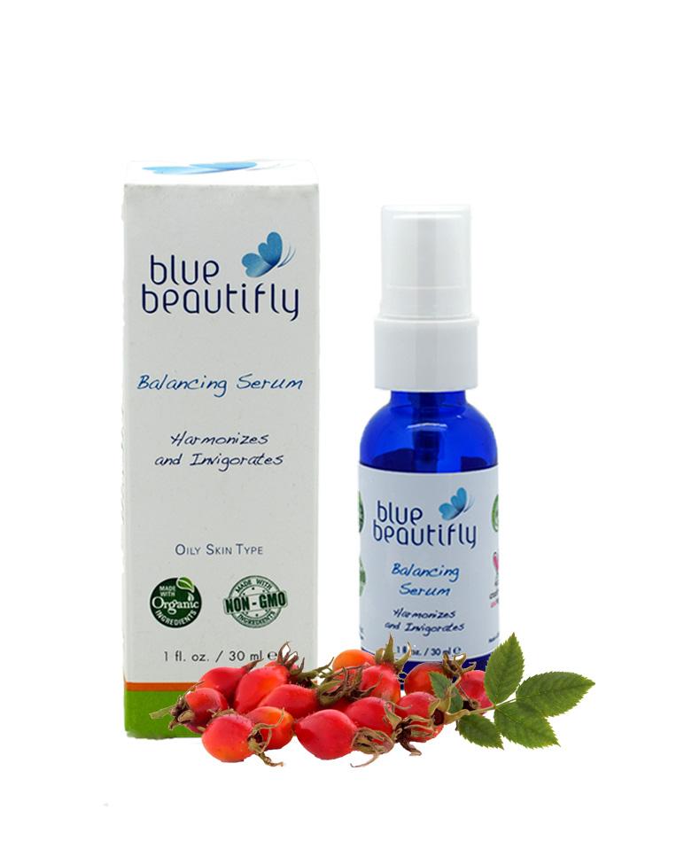 Blue Beautifly Балансирующая сыворотка для лица, 30млBB-011Для жирной кожи. Корректирует выработку кожного сала и очищает поры, нормализует водный баланс и увлажняет кожу. Созданная на основе древней Аюрведы и китайской медицины Балансирующая сыворотка содержит растительные стволовые клетки дерева Ним, Шалфея, Лопуха, Шиповник и фруктовую смесь Трифала (Индийская ягоды Амалаки, Харитаки и Бибхитаки). Они очищают поры естественным путем. Восстанавливающие свойства Гиалуроновой кислоты и Алоэ Вера противодействуют старению и поддерживают естественное обновление кожи. Ароматерапевтическая смесь эфирных масел Апельсина, Лаванды, Туласи и чайного дерева Мелалеука сужает поры, уменьшает воспаления и тонизирует кожу лица.