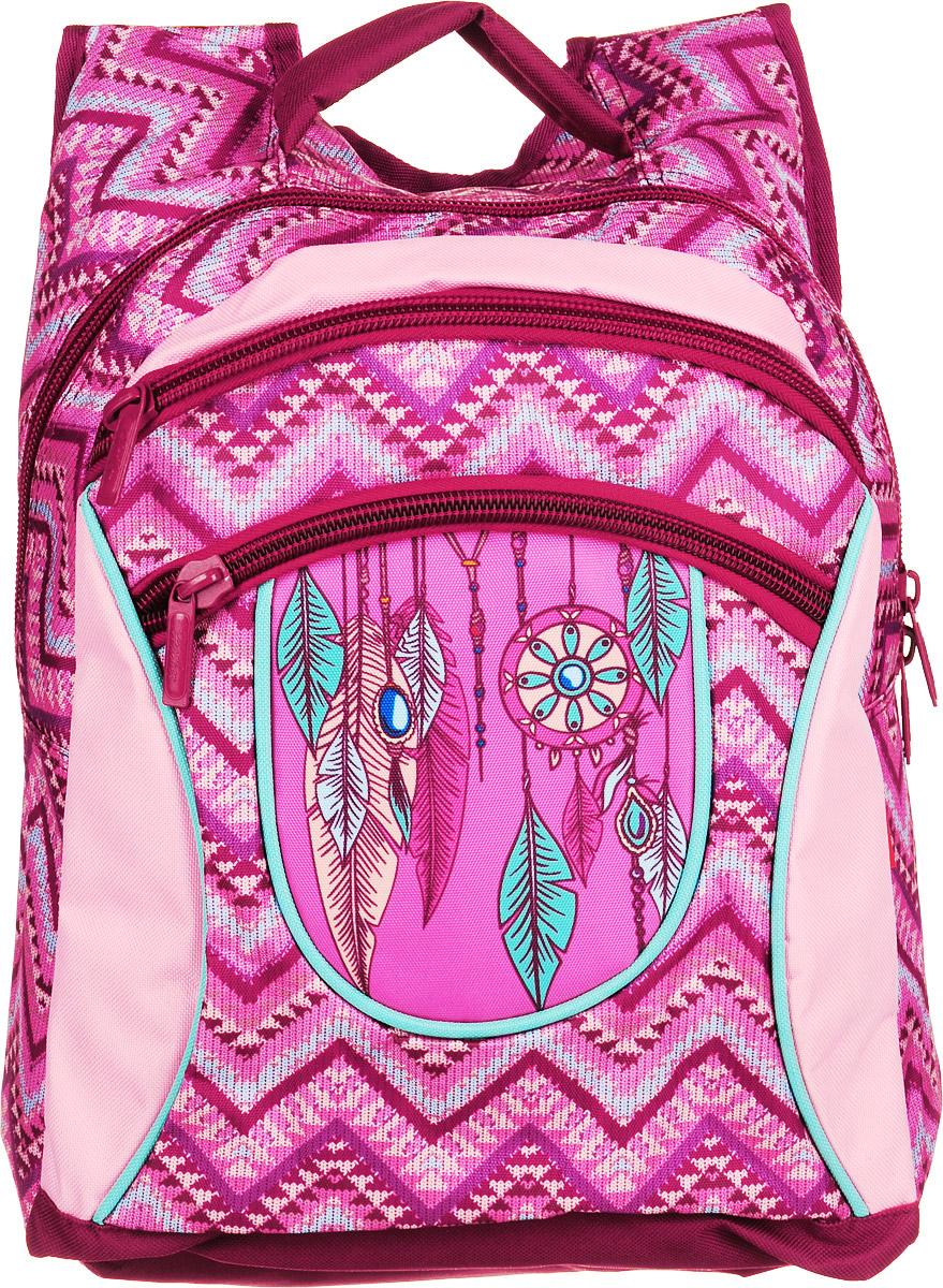 Hatber Рюкзак Basic Plus Ловушка для сновNRk_19082Рюкзак Hatber Basic Plus Ловушка для снов - это стильный молодежный рюкзак, отличающийся легкостью и вместительностью. Изделие выполнено из полиэстера и оформлено этническим принтом. Рюкзак имеет 2 вместительных отделения, закрывающихся на застежку-молнию. Внутри основного отделения расположен дополнительный карман. На лицевой стороне имеется карман на молнии. Текстильная ручка обеспечивает возможность переноски рюкзака в одной руке. Дно и спинка уплотнены. Широкие мягкие лямки в форме маечки гарантируют максимальный комфорт.