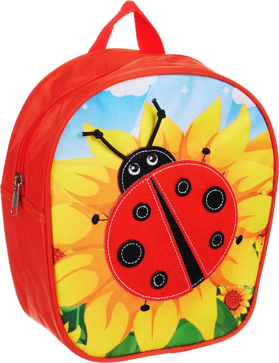 Росмэн Рюкзак дошкольный Божья коровка 3200332003Симпатичный дошкольный рюкзачок «Божья коровка» ТМ «РОСМЭН – это удобный, легкий и компактный аксессуар для вашего малыша, который обязательно пригодится для прогулок и детского сада. В его внутреннее отделение на молнии можно положить игрушки, предметы для творчества или книжку формата А5. Благодаря регулируемым лямкам, рюкзачок подходит детям любого роста. Удобная ручка помогает носить аксессуар в руке или размещать на вешалке. Износостойкий материал с водонепроницаемой основой и подкладка обеспечивают изделию длительный срок службы и помогают держать вещи сухими в сырую погоду. Аксессуар декорирован ярким принтом (сублимированной печатью), устойчивым к истиранию и выгоранию на солнце, аппликацией из фетра, вышивкой. Размер: 22х25х9 см.