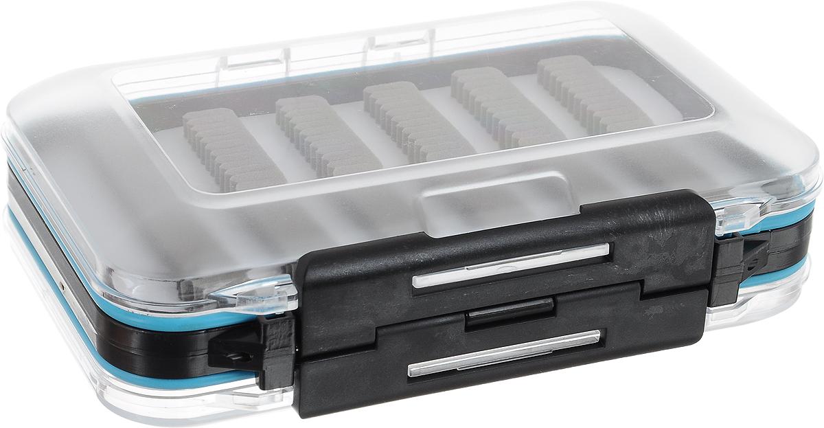 Коробка рыболовная Salmo Fly Special, 15 х 10 х 5,2 см1501-10Коробка рыболовная Salmo Fly Special предназначена для хранения мушек, стримеров и других рыболовных принадлежностей. Коробка позволит максимально защитить ее содержимое от попадания загрязнений и влаги. Коробка выполнена из пластика, является двусторонней и содержит два отделения, каждое из которых плотно закрывается прозрачной крышкой. В каждом отделении имеются мягкие полимерные вставки. Благодаря своему небольшому размеру коробка компактна и не занимает много места.