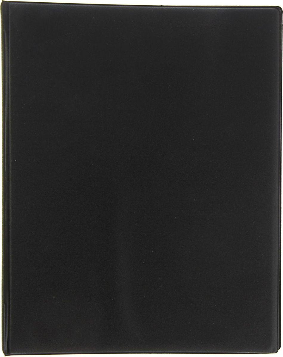 Calligrata Тетрадь на кольцах 80 листов в клетку цвет черный1281865