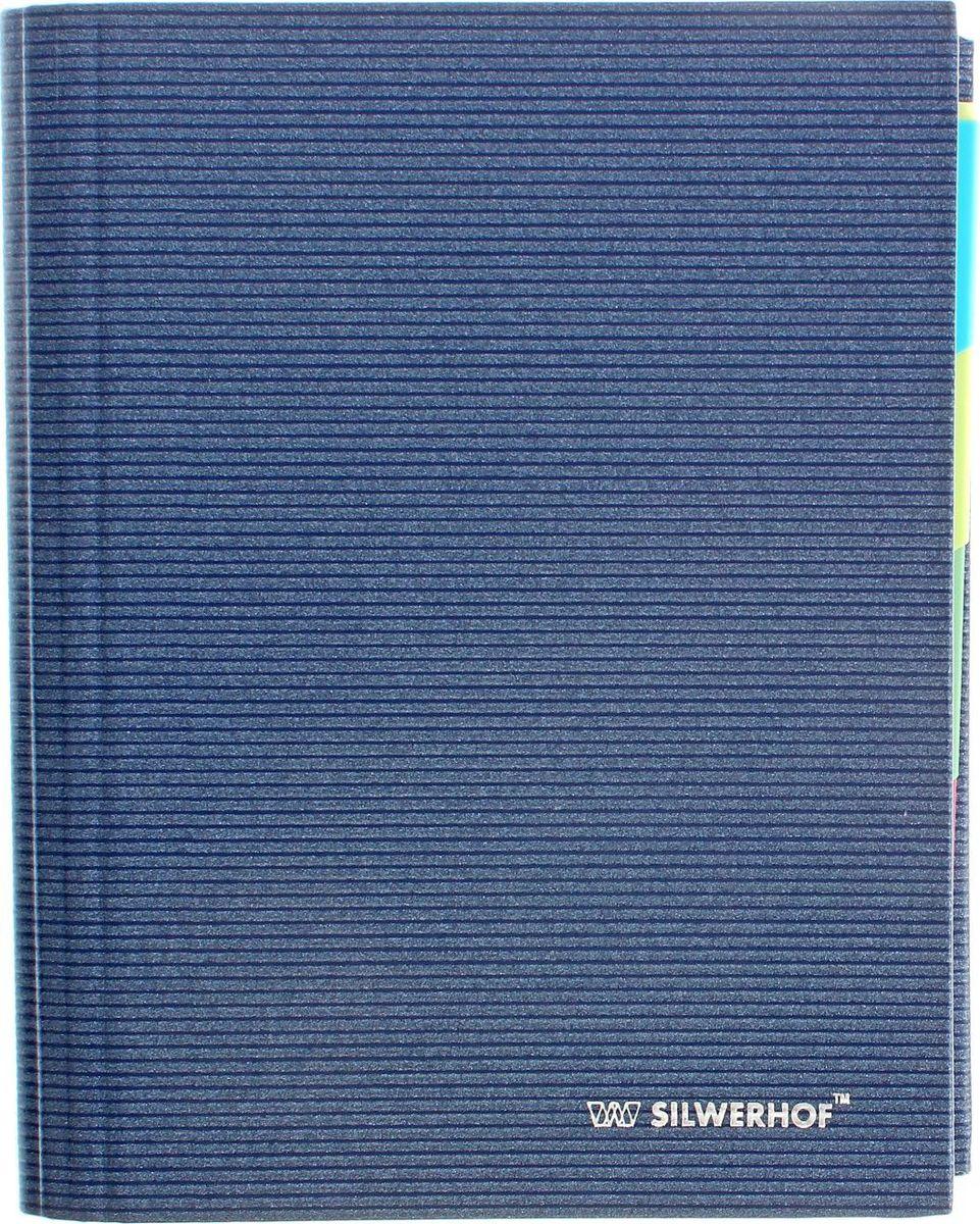 Silwerhof Тетрадь на кольцах Linea 160 листов в клетку1335095