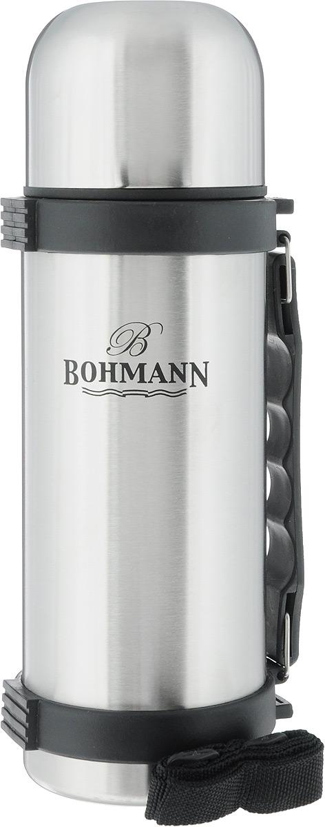 Термос Bohmann, узкое горло, 750 мл. 4175BH/б/чехла4175BH/б/чехлаТермос с узким горлом из нержавеющей стали. Ремень. Объём 0,75 л.