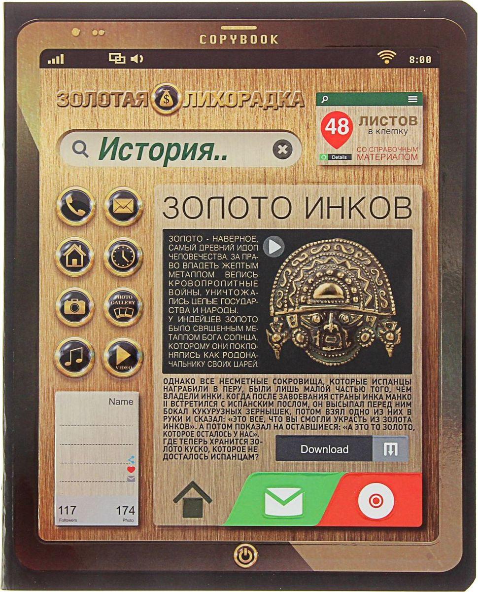 ПЗБФ Тетрадь Золотая лихорадка-2 История 48 листов в клетку1404191