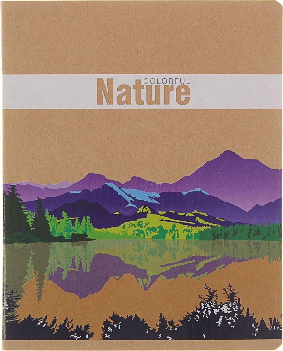 ПЗБФ Тетрадь Природа в красках 48 листов в клетку1404197