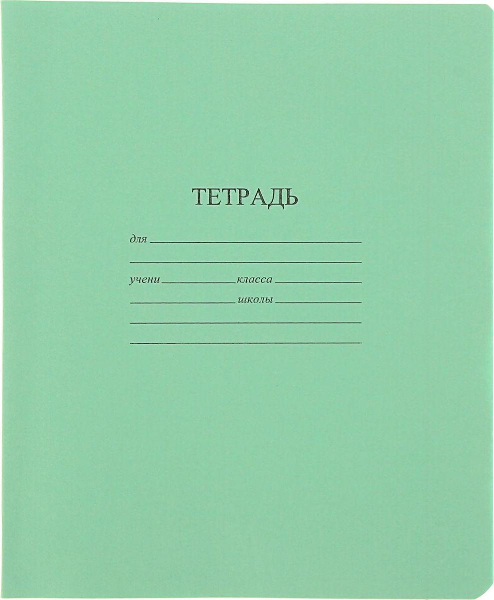 КФОБ Тетрадь 24 листа в клетку цвет зеленый