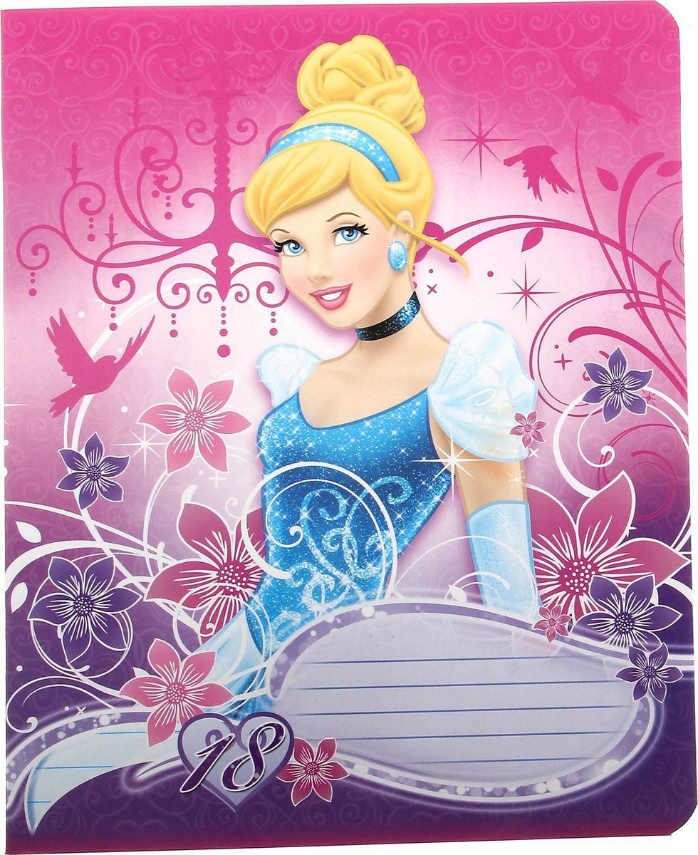 Disney Тетрадь Принцессы 18 листов в линейку