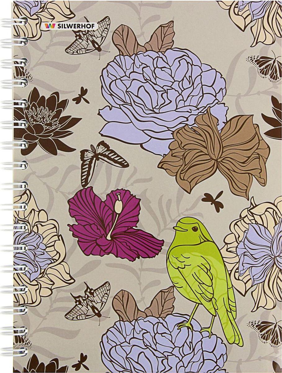 Silwerhof Тетрадь Цветочный мир 120 листов в клетку 1802489