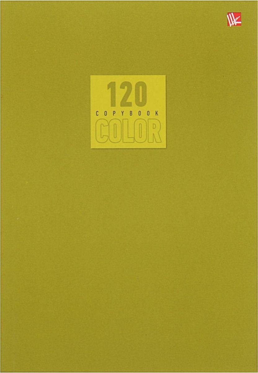 Эксмо Тетрадь Стиль и цвет 120 листов в клетку цвет оливковый1820440