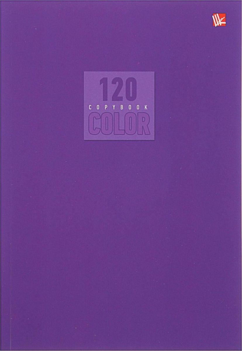 Эксмо Тетрадь Стиль и цвет 120 листов в клетку цвет лиловый 18204411820441