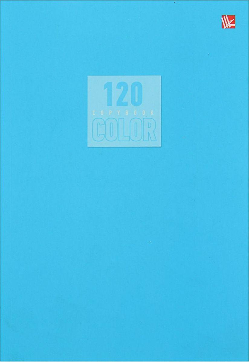 Эксмо Тетрадь Стиль и цвет 120 листов в клетку цвет голубой 18204421820442