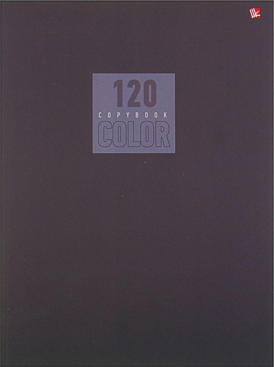 Эксмо Тетрадь Стиль и цвет 120 листов в клетку цвет серый1820454