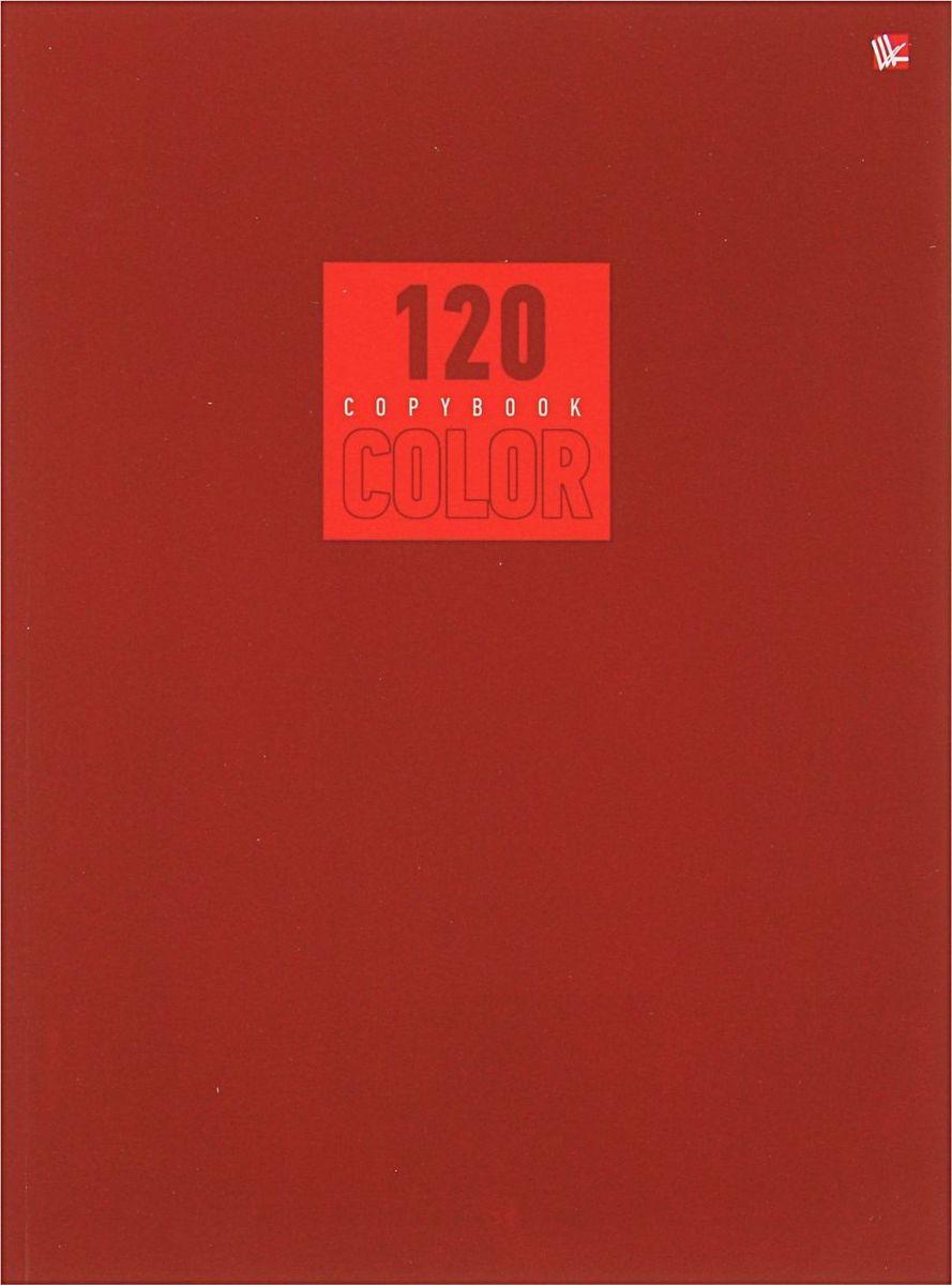 Эксмо Тетрадь Стиль и цвет 120 листов в клетку цвет красный1820455