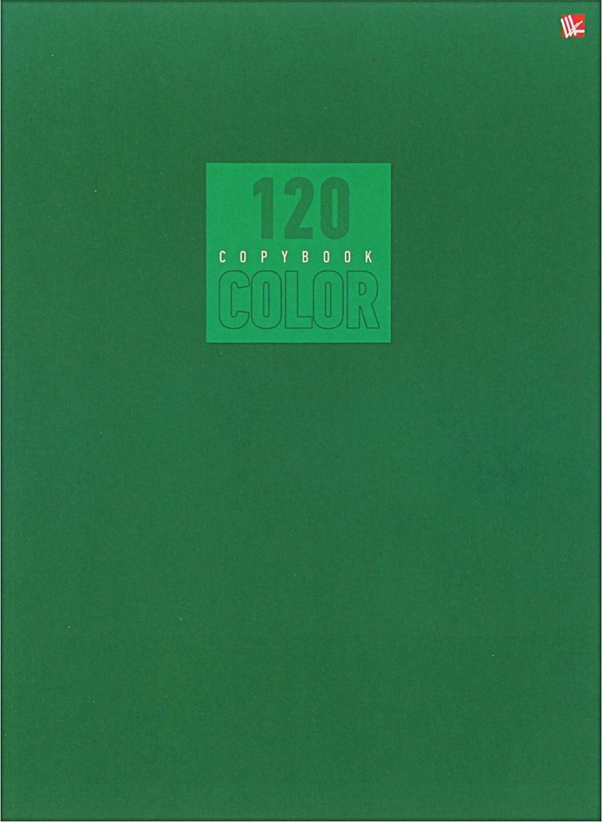 Эксмо Тетрадь Стиль и цвет 120 листов в клетку цвет зеленый1820456