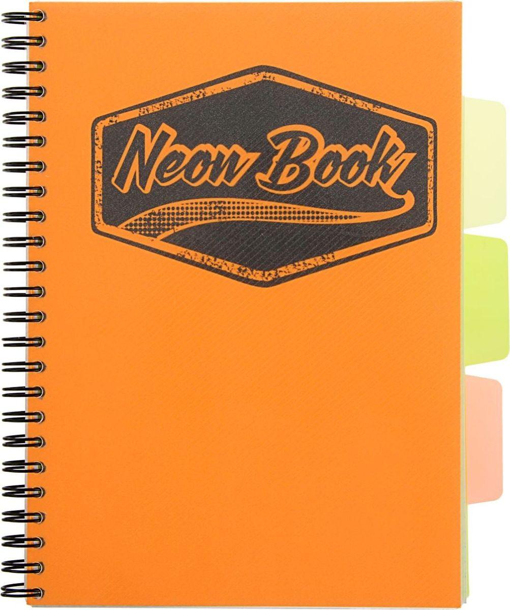Expert Complete Тетрадь с разделителями Neon Book 120 листов в клетку цвет оранжевый1898209