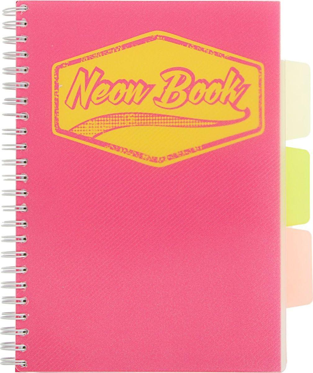 Expert Complete Тетрадь с разделителями Neon Book 120 листов в клетку цвет розовый1898210