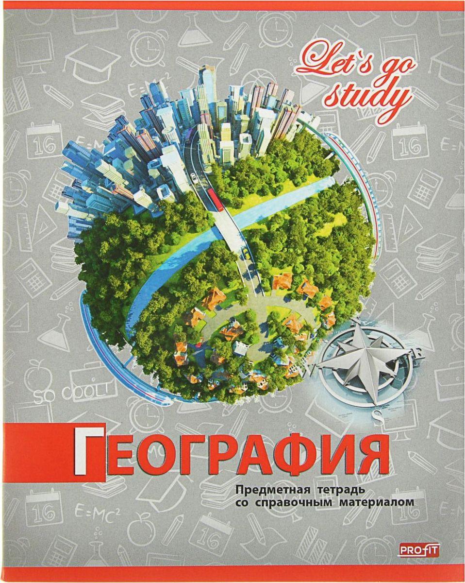 Profit Тетрадь Серебро География 36 листов в клетку2093164