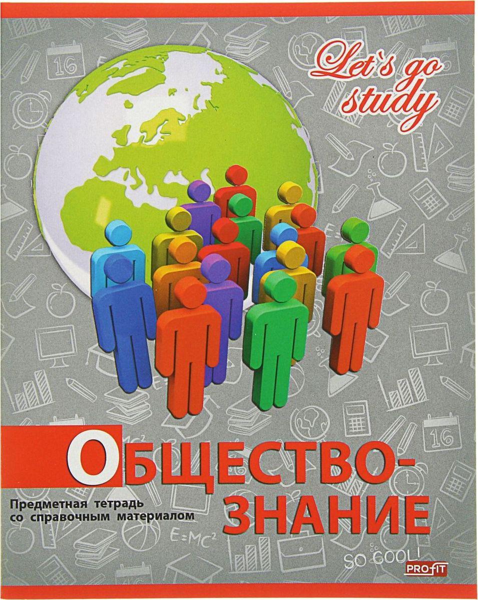 Profit Тетрадь Серебро Обществознание 36 листов в клетку2093166