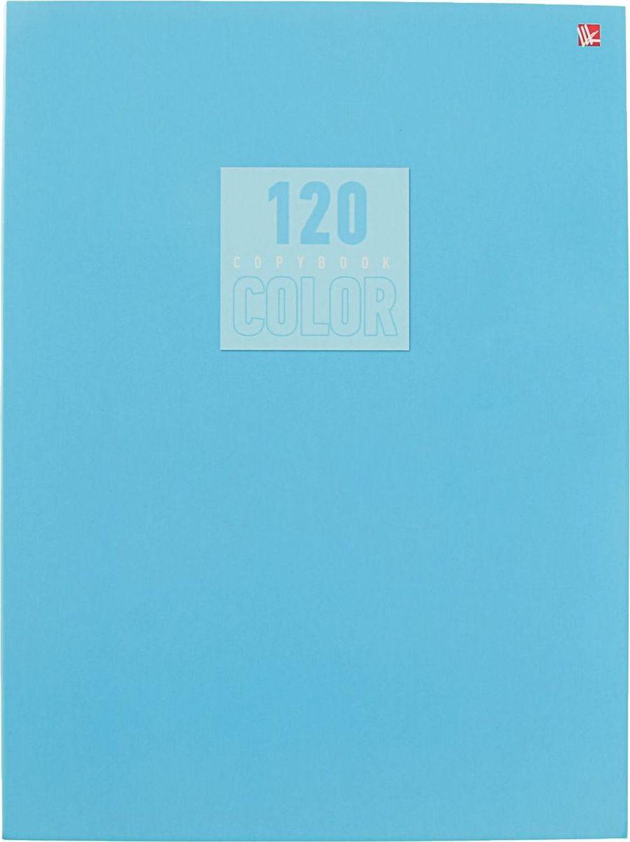 Эксмо Тетрадь Стиль и цвет 120 листов в клетку цвет голубой2174073
